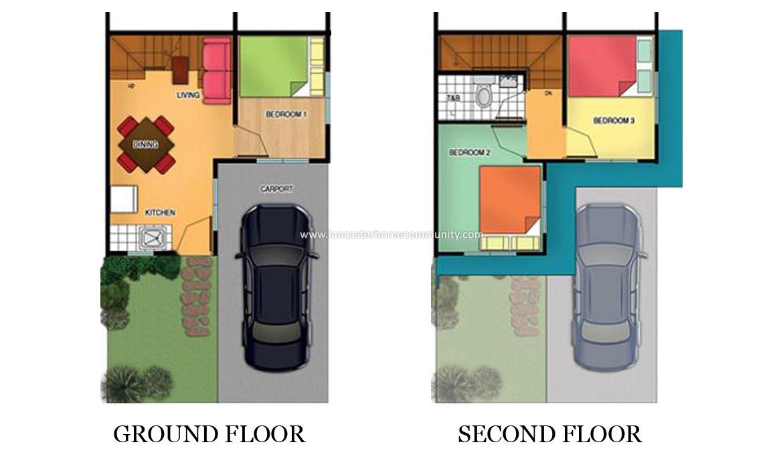 Alice House Model Lancaster Homes For Sale In Cavite Floorplan Lancaster New City Homes For Sale In Cavite